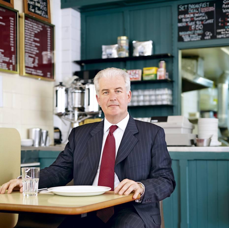John Corcoran at the Regency Café