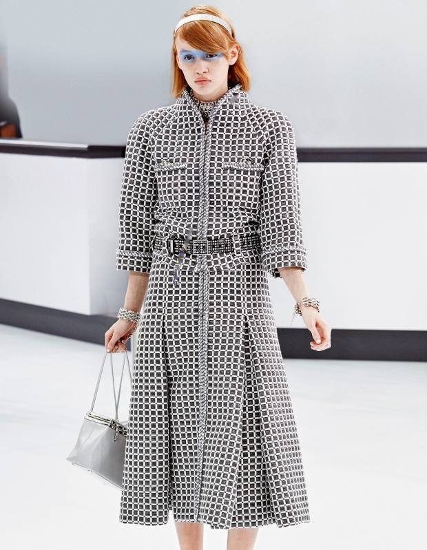 Chanel toile-jacquard jacket, £3,671, and matching skirt, £3,429