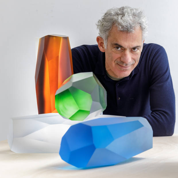 Arik Levy and his RockStone 40 collection for Lalique
