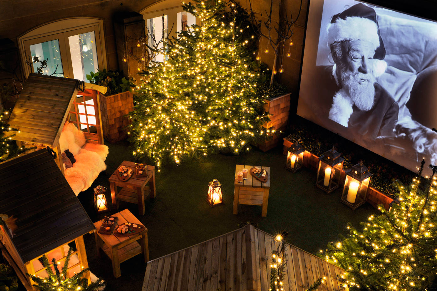 The rooftop winter cinema at The Berkeley will be screening festive films