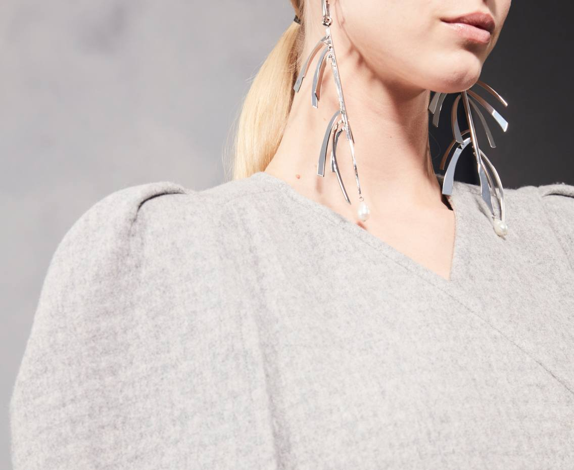 Givenchy silver Harp earrings, POA