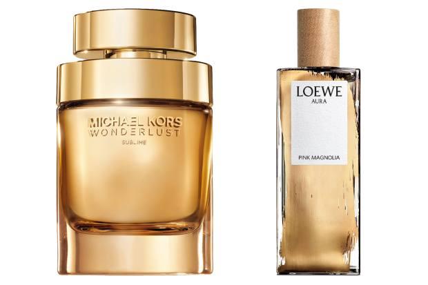 Michael Kors Wonderlust Sublime, £90 (100ml). Loewe Aura Pink Magnolia, £81 (50ml)