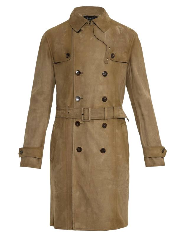 Gucci suede trench coat, £3,860