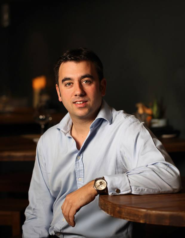 Sommelier Xavier Rousset, founder of the new Blandford Comptoir