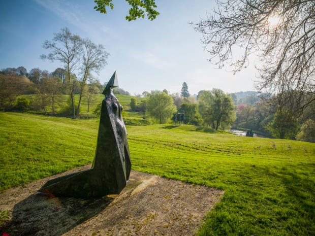A sculpture by Lynn Chadwick at the artist's Gloucestershire home