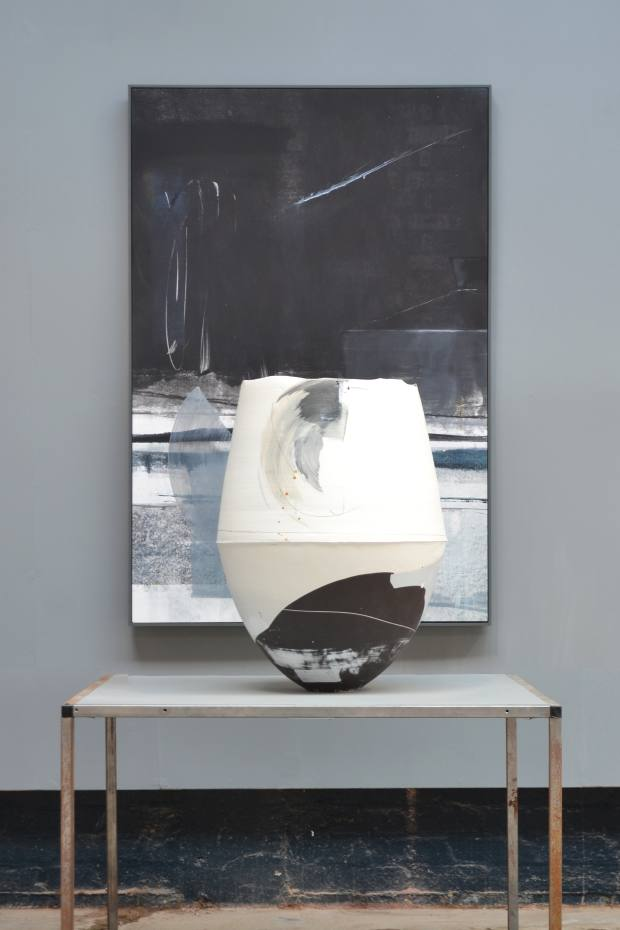 Hannah Tounsend's Statement vessel, £5,500, and painting, £2,80