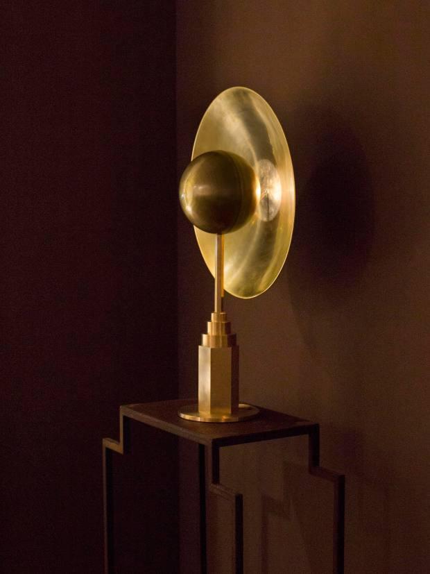 Brass Metropolis lamp, 2019, by Jan Garncarek