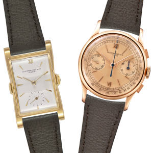 Vacheron Constantin 18-carat rose gold chronograph wristwatch, ref 4072, made in 1942, £20,000 to £30,000