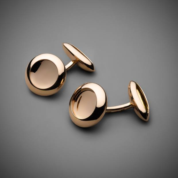 Anish Kapoor 18ct rose gold Water cufflinks, from Louisa Guinness Gallery
