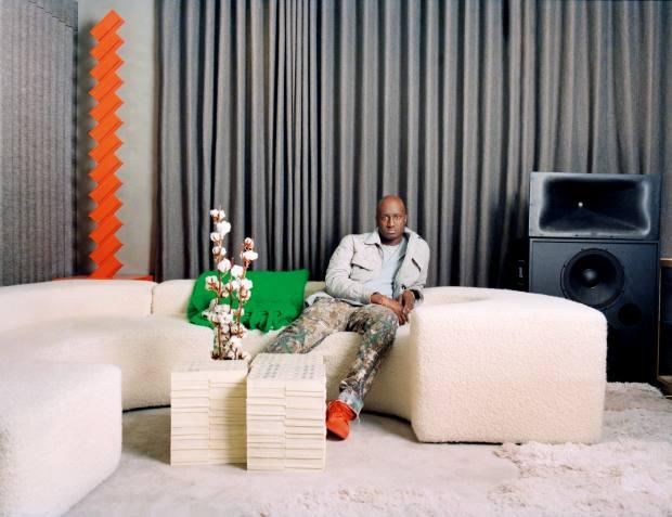 Abloh in his Paris studio