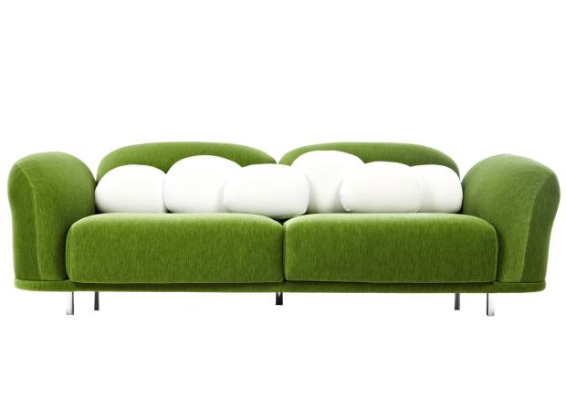 Marcel Wanders for Moooi velours Cloud sofa, from £4,227