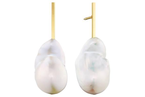 Julie Nielsdotter baroque pearl Sticks earrings, £620