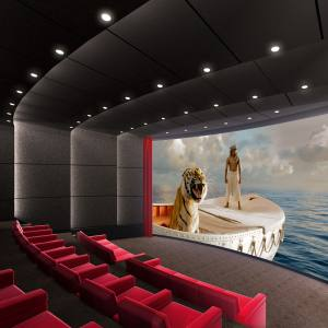 Life of Pi showing on an Imax Private Theatre