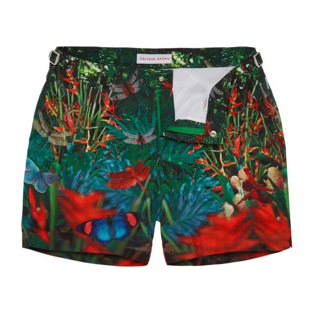 Orlebar Brown polyester Flora Print Zoology Bulldog swim shorts, £195