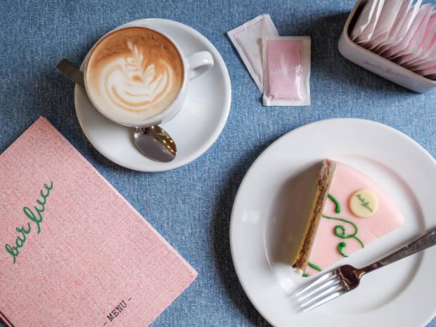 Bar Luce's signature pink sponge cake, €6