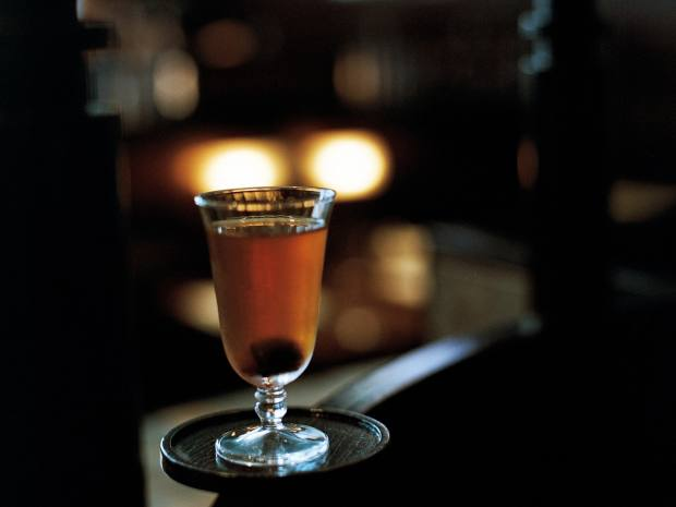XU's particularly memorable Daiga Sour cocktail is made of Amontillado sherry, cognac, Chinese mushroom and liquorice root