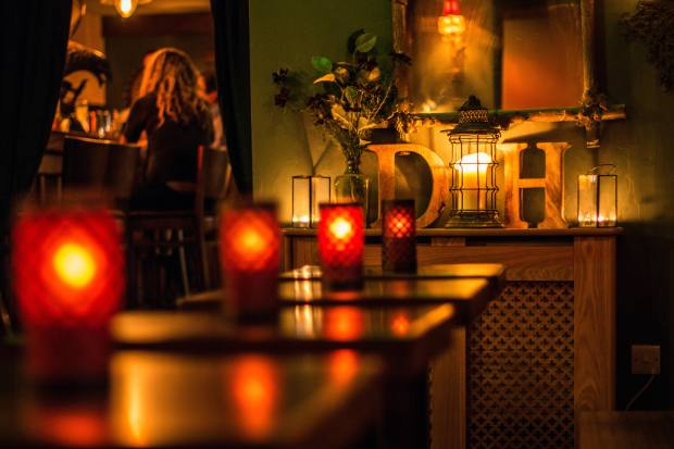 Low, warm lighting is a key ingredient in the bar's ambience