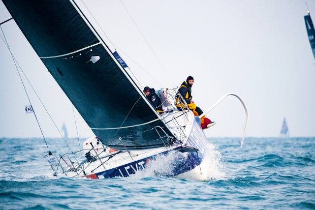 Groupe Beneteau's Figaro 3 monohull, €240,000, has foils that stretch out to reduce heel and pitching