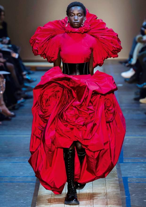 A corseted design atAlexander McQueen a/w 2019