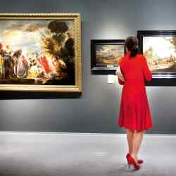 The paintings section at The European Fine Art Fair (TEFAF) in Maastricht, 2013