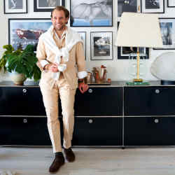 Patrick Johnson at home in Sydney