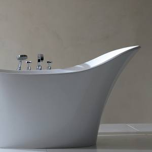 Victoria & Albert's Quarrycast Amalfi tub, from £2,500, from NGI Design.