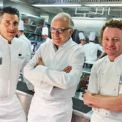From left: Jean-Philippe Blondet, Alain Ducasse and Tom Kitchin