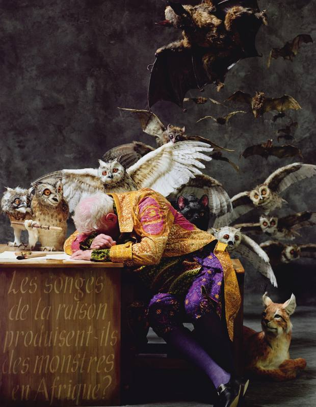 Yinka Shonibare's The Sleep of Reason Produces Monsters (Africa) sold for £36,000 at Sotheby's Art for Africa Auction in September.