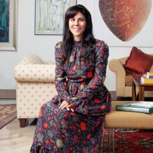 Dyala Nusseibeh at home in Abu Dhabi
