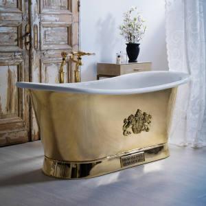 Catchpole & Rye bespoke brass bath for a Venice palace