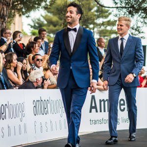 Daniel Ricciardo at a previous Amber Lounge Fashion Show