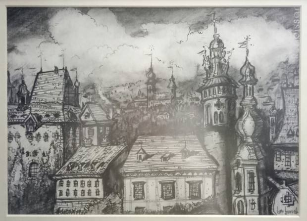 Bensley's own drawing of Ceský Krumlov