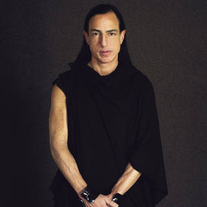 One of the most globally influential American designers working today: Rick Owens in his Paris studio on the Place du Palais Bourbon.