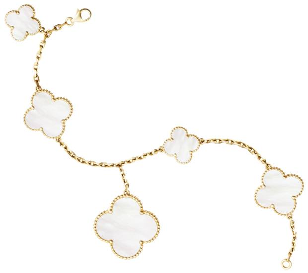 Van Cleef & Arpels gold and mother-of-pearl Magic Alhambra 5 bracelet, £5,250