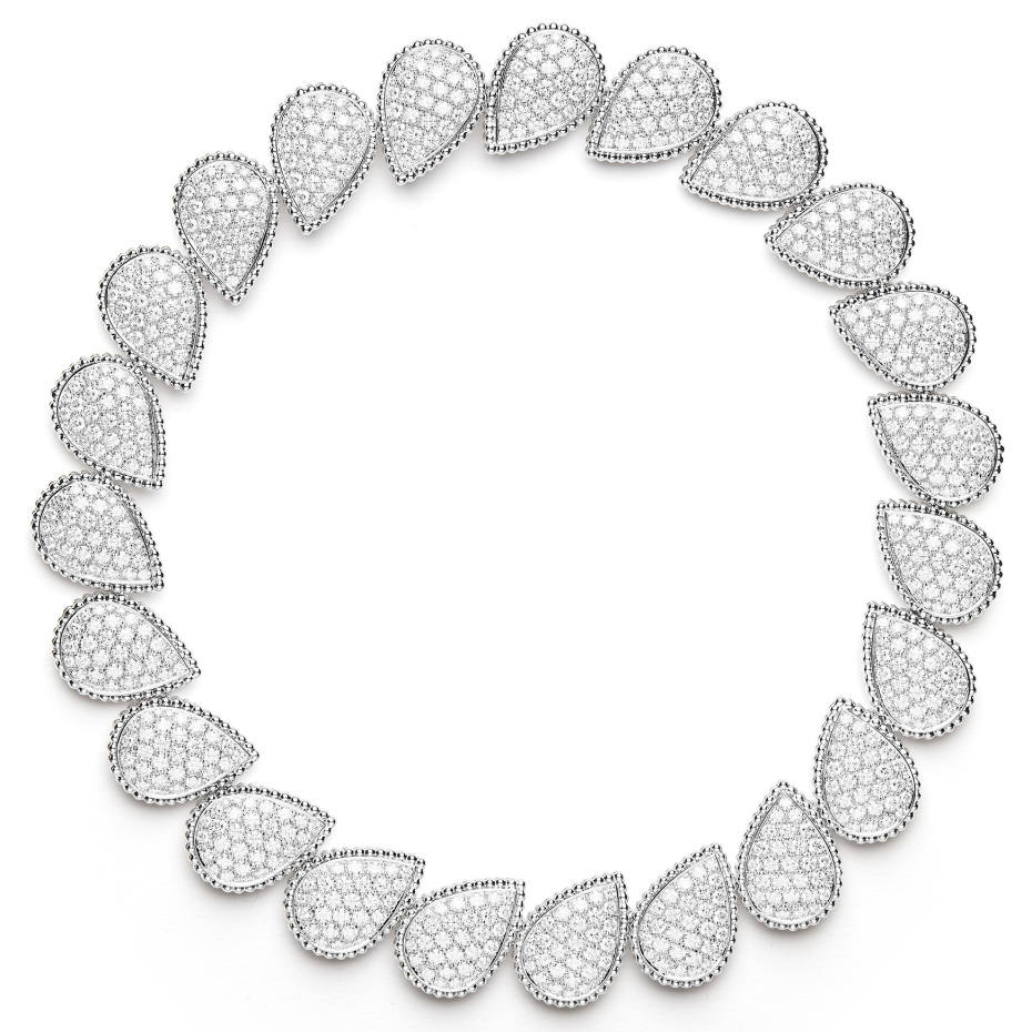 Boucheron diamond and white gold Pompon necklace from the Serpent Bohème collection, price on request