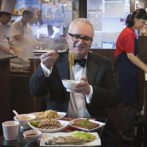 Jonathan Margolis enjoys some of the signature dishes at Hung's Delicacies, a Michelin-starred Chiu Chow café in North Point