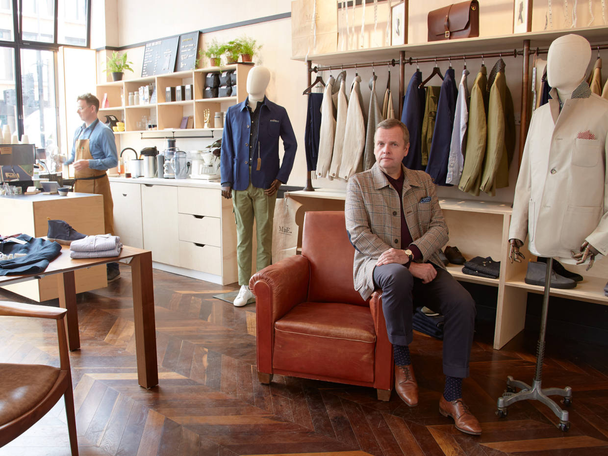 7a981c2be Tailor Timothy Everest in his new MbE atelier and shop in Spitalfields