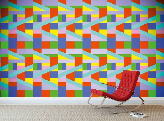 Gillian Fuller Square Dance Bright wallpaper, £195 per 10m roll