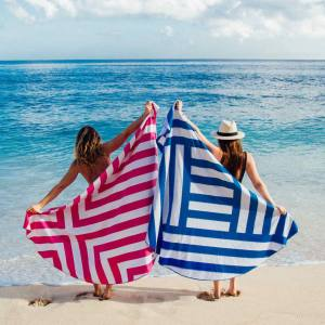 Dock & Bay's striped Cabana towels, £18 each, in extra-large, adequately cover the length and breadth of a sun lounger