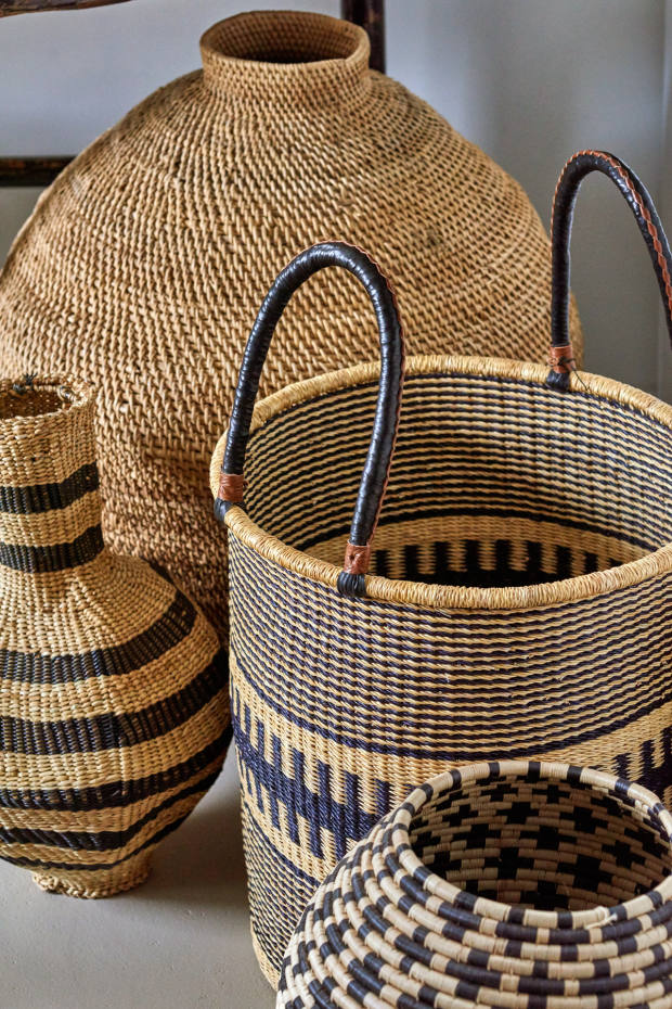A wide selection of African baskets is available from $225