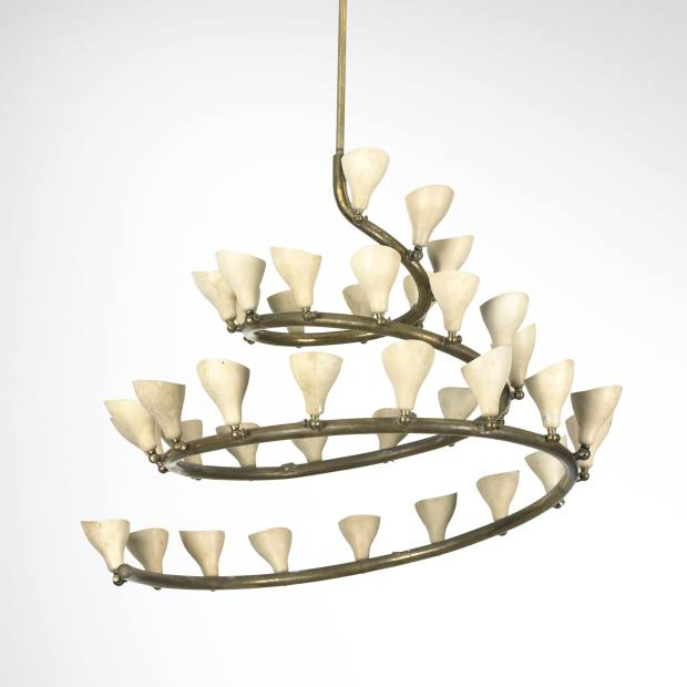A 1948 Gino Sarfatti chandelier, sold by Wright for $72,100