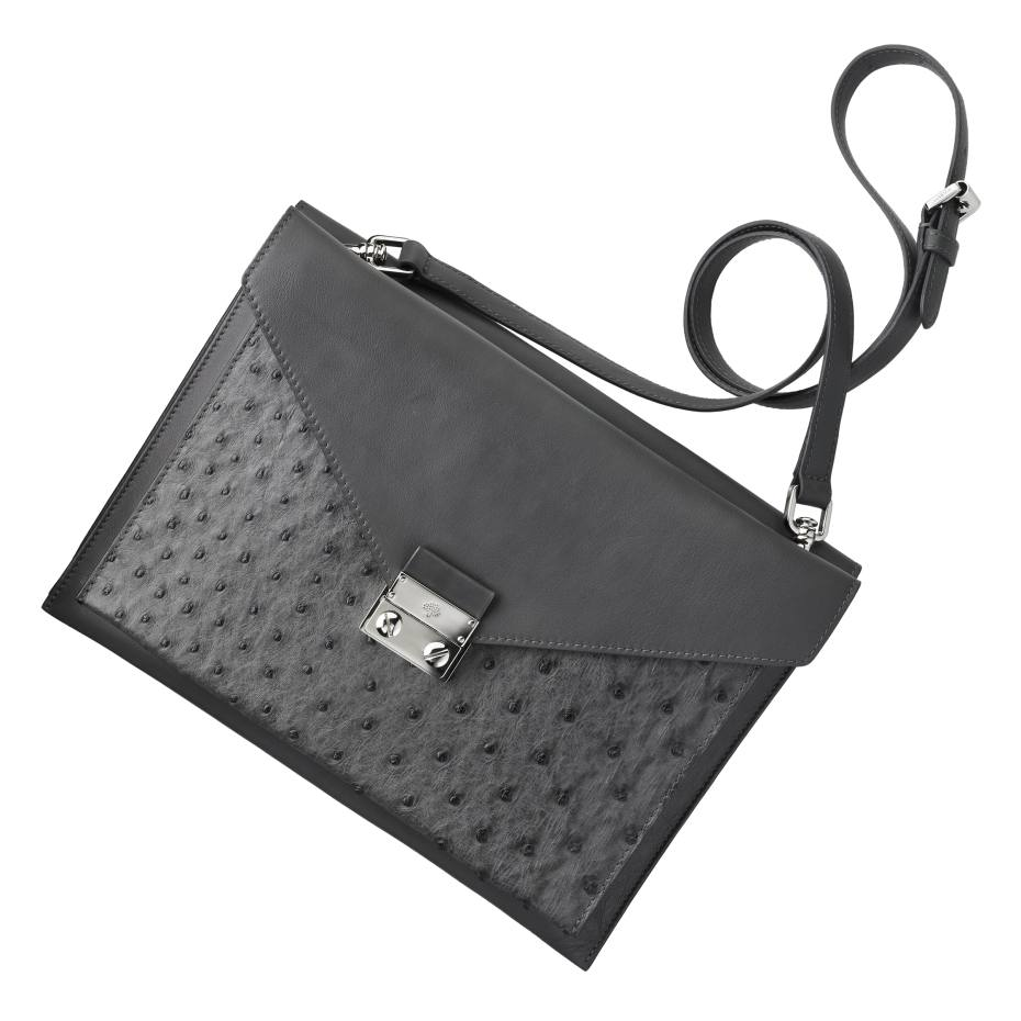 Mulberry Kensal handbag in calfskin and ostrich, £2,400. Also in other colours/materials