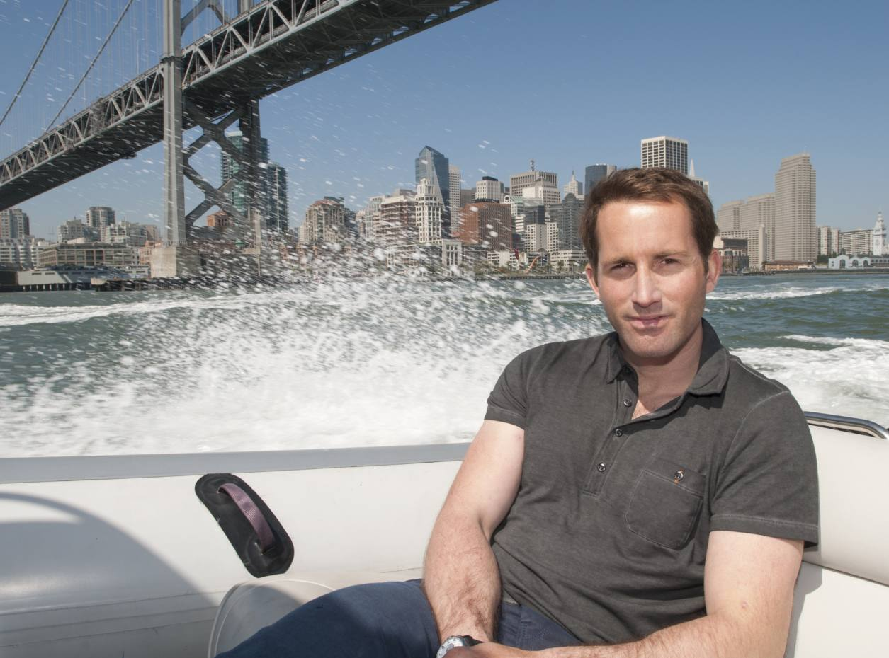 Ben Ainslie out on San Francisco Bay