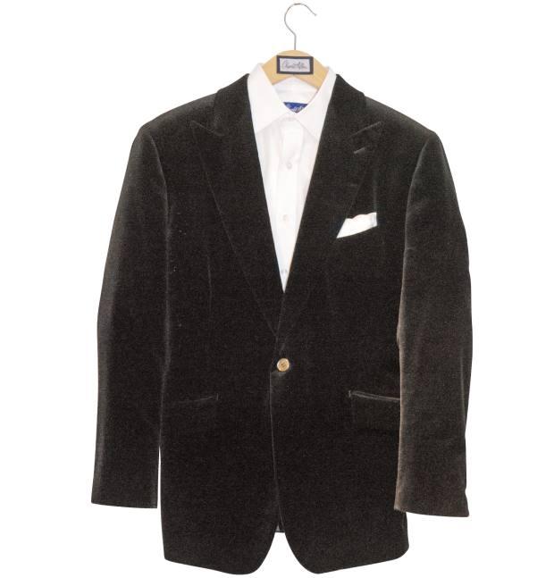 Hilton's Charlie Allen bespoke velvet jacket