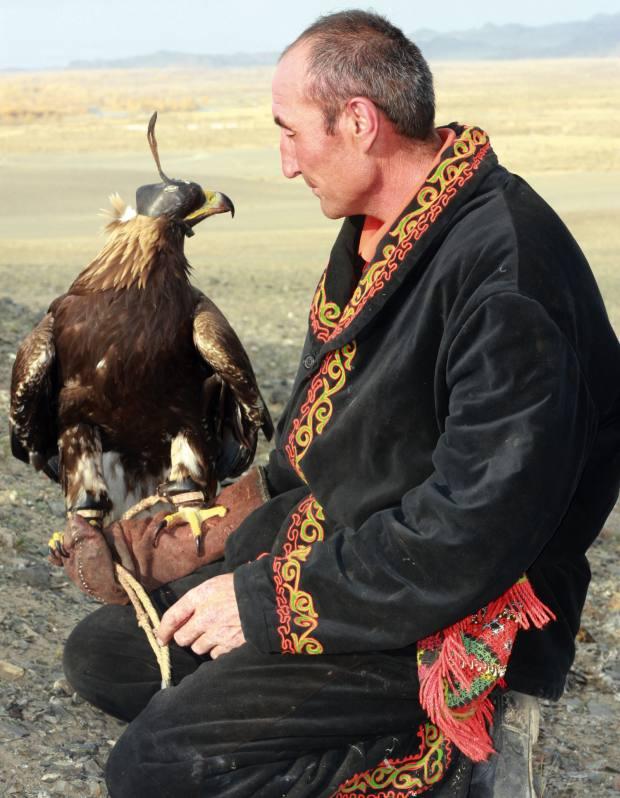 Agalai and his eagle take a break.