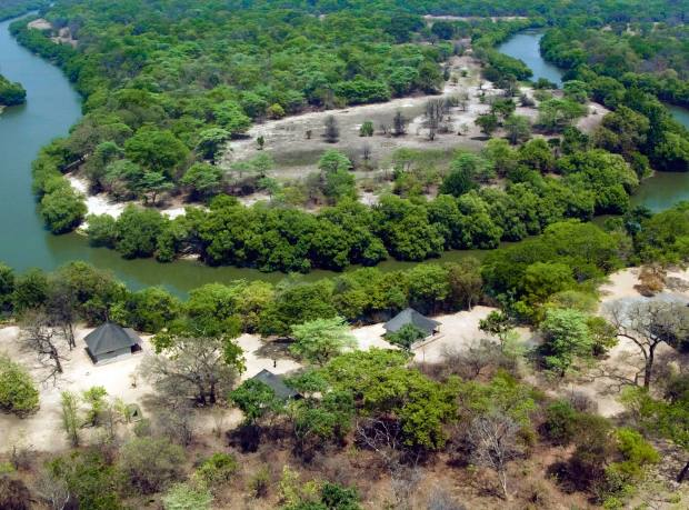 Mumbuluma private game lodge on the Nanzhila River in Zambia's Kafue National Park, $10m through Knight Frank