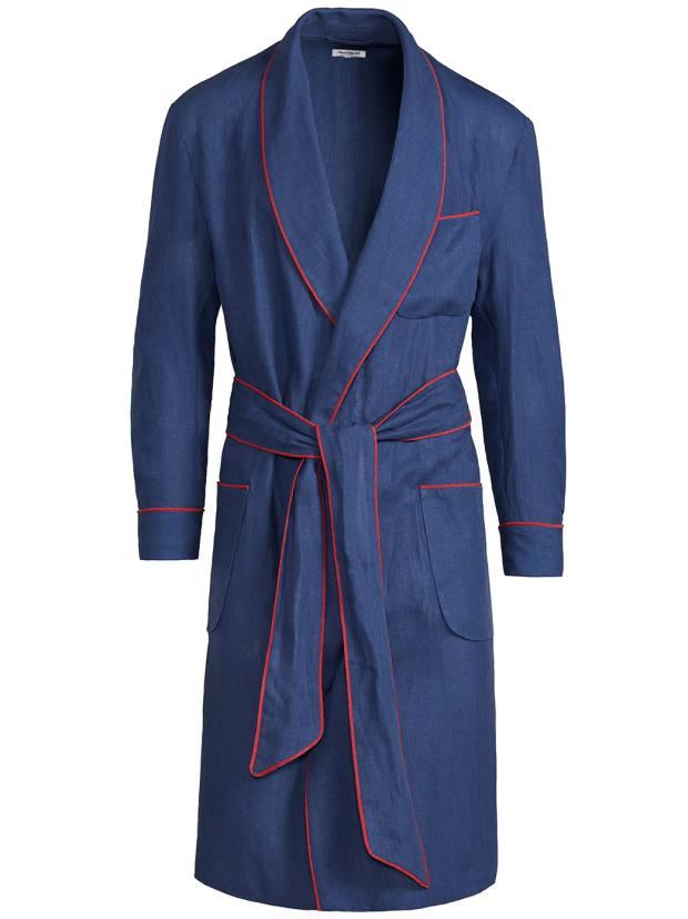 Paul Stuart linen robe, $495, paulstuart.com