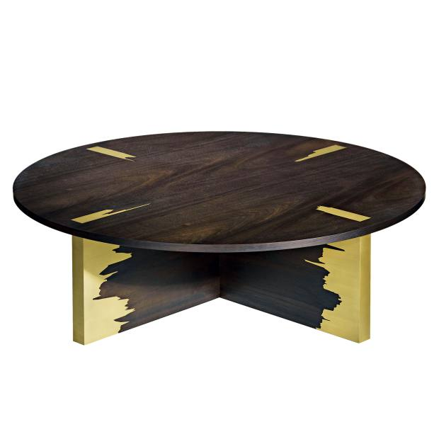 Linley eucalyptus and brass Graft coffee table, £6,500