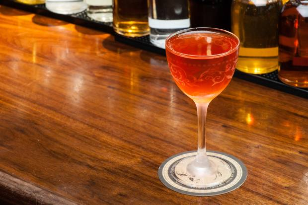 The Psycho Killer cocktail, £19, is a mix of whiskey, Campari, banana Liqueur, white Cacao and Pernod absinthe