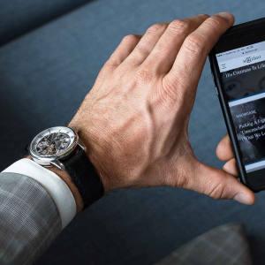Claude Meylan stainless-steel LAC 6045-DL watch, €2,084 from Skolorr